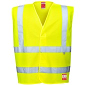 Bizflame High Visibility Flame Retardant Anti-Static Vest Yellow