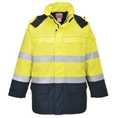 Portwest FR79 Hi Vis Multi Arc Flame Retardant Anti-Static Rain Jacket