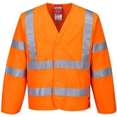 Portwest FR85 Orange Hi-Vis Anti Static & Flame Retardent Jacket