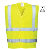 High Visibility Flame Retardant Vest Yellow