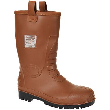 Portwest FW75 Tan Steelite Waterproof Neptune Safety Rigger Boot S5