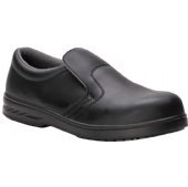 Portwest FW81 Black Steelite Microfibre Slip On Safety Shoe S2