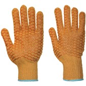 Portwest A130 Criss Cross Grip Gloves with PVC Patterned Coating