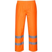 Portwest High Visibility Waterproof PVC Rain Trousers Orange