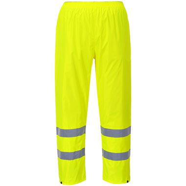 Portwest H441 Yellow Hi Vis Lightweight Rain Trousers