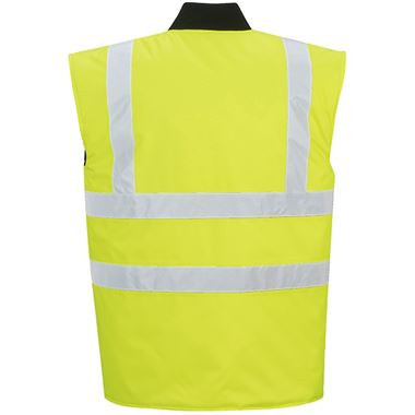 Portwest High Visibility Reversible Bodywarmer Yellow