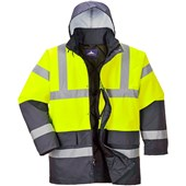 Portwest High Visibility Two Tone Padded Jacket Yellow/Navy
