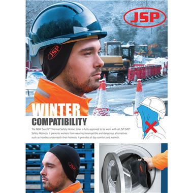 JSP Surefit Thermal Safety Helmet Beanie AHV002-301-100