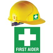 First Aider Helmet Sticker