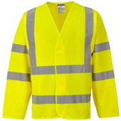 Portwest High Visibility Long Sleeve Vest Yellow