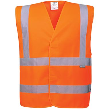 Portwest C470 Orange Hi Vis Adjustable Vest