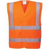Portwest High Visibility Adjustable Vest GO/RT Orange
