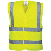 Portwest High Visibility Adjustable Vest Yellow