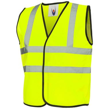Yellow Childrens Kids Hi Vis Vest