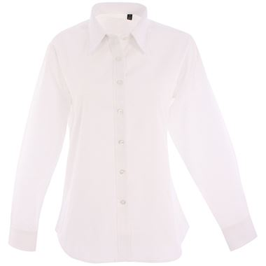 Uneek UC703 Ladies Long Sleeve Pinpoint Oxford Shirt