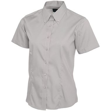 Uneek UC704 Ladies Short Sleeve Pinpoint Oxford Shirt