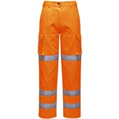 Portwest LW71 Orange Ladies Hi Vis Poly-Cotton Trousers
