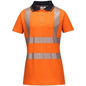Portwest LW72 Ladies High Visibility Pro Polo Shirt Orange