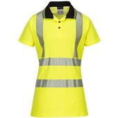 Portwest LW72 Ladies High Visibility Pro Polo Shirt Yellow