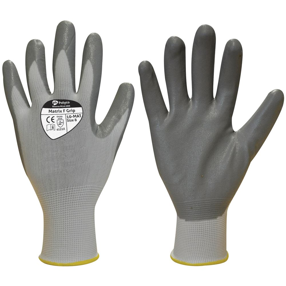 Polyco Matrix F Grip Gloves 10-MAT with Nitrile Coating