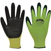 Matrix Green PU Grip Glove (Cut Resistant Level 5) PU Coating