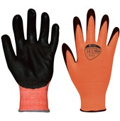 Matrix Orange PU Grip Glove (Cut Resistant Level 3) PU Coating