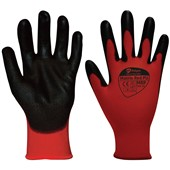Matrix Red PU Grip Glove - PU Coating