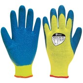 Polyco Matrix Hi Viz Thermal Work Gloves 90-MAT with Latex Coating