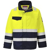 Portwest MV25 Yellow/Navy Hi Vis Modaflame FR & AS Jacket