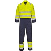 Portwest MV28 Yellow/Navy Hi Vis Modaflame FR & AS Coverall