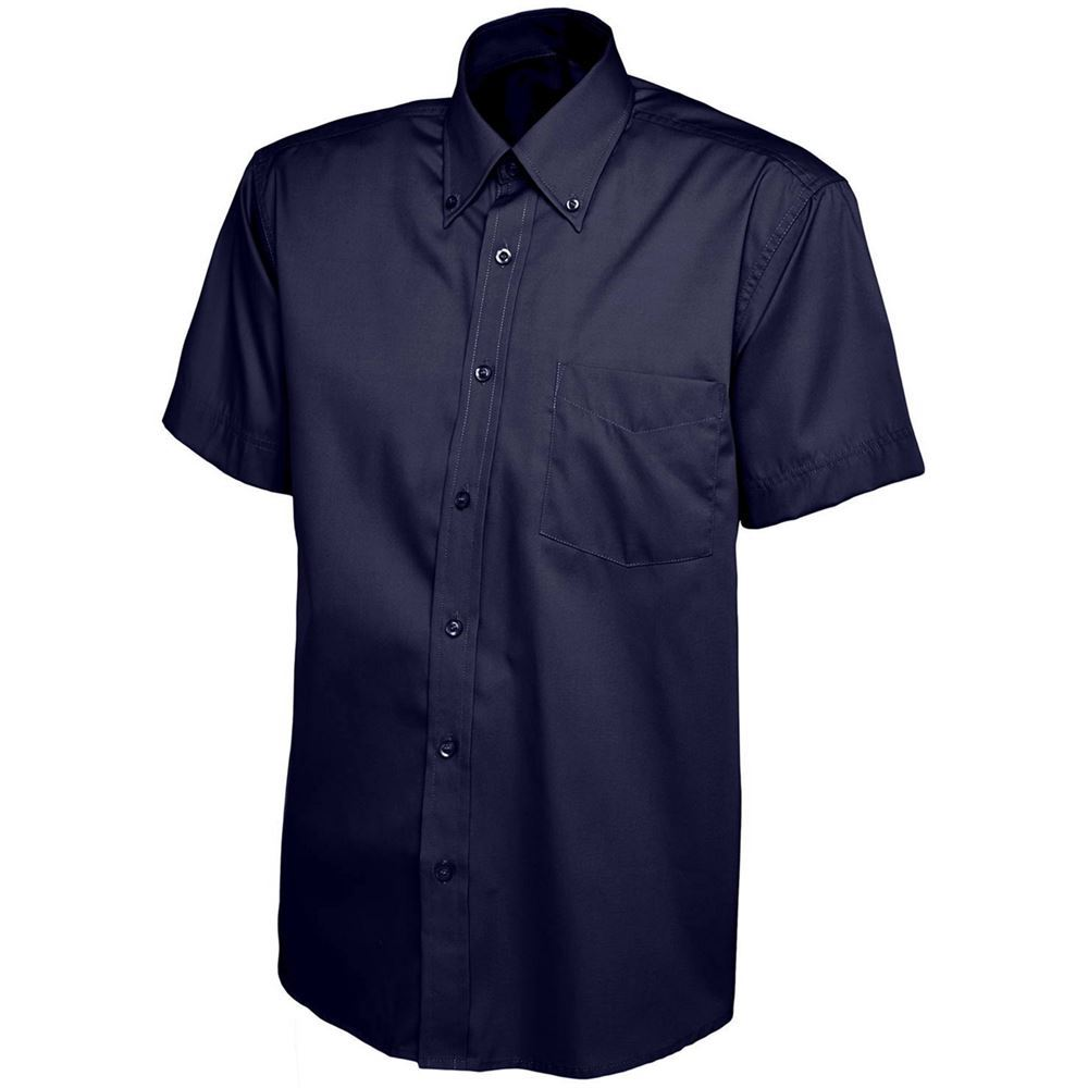 Mens Short Sleeve Pinpoint Oxford Shirt Safetec Direct Ltd