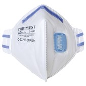 Portwest P251 FFP2 Valved Fold Flat Disposable Masks (Pack 20)