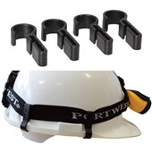 Universal Head Light Safety Helmet Clips (Pack 4)