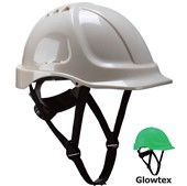 Portwest PG54 Endurance Glowtex Safety Helmet - Non Vented Wheel Ratchet Short Peak