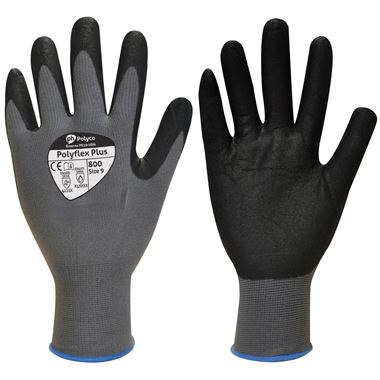 Polyflex Plus Glove - Foamed Nitrile Coating