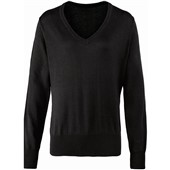 Ladies Knitted V-Neck Sweater