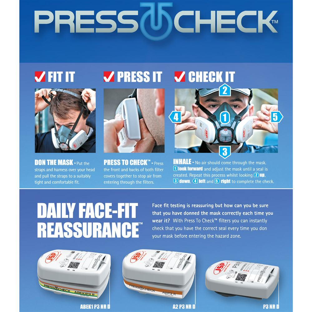 JSP Press To Check ABEK1P3 Filters (Pair) | safetecdirect co uk