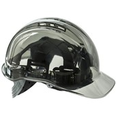 Portwest PV50 Peak View Translucent Safety Helmet - Vented Slip ratchet Standard Peak