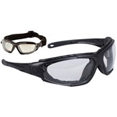 Portwest PW11 Levo Hybrid Clear Safety Glasses - Anti Scratch & Anti Fog Lens