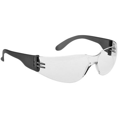 Portwest PW32 Wrap Around Clear Safety Glasses & Cord - Anti Scratch Lens