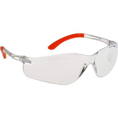Portwest PW38 Pan View Clear Safety Glasses & Cord - Anti Scratch & Anti Fog Lens