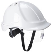 Portwest PW55 Endurance Visor Safety Helmet - Vented Wheel Ratchet Short Peak