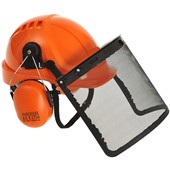 Portwest PW Safety Forestry Helmet Combi Kit - Vented - Wheel Ratchet - Mid Peak