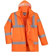 Portwest High Visibility Premium Breathable Mesh Lined Jacket GO/RT Orange