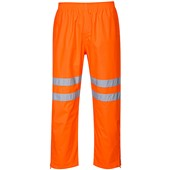 Portwest RT61 Orange Hi Vis Breathable Waterproof Trousers