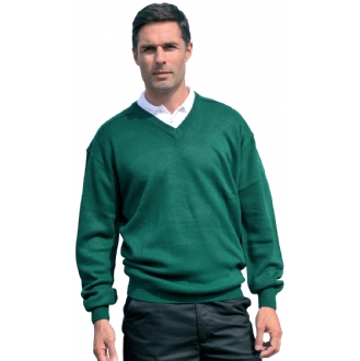V-Neck Knitted Workwear Pullover