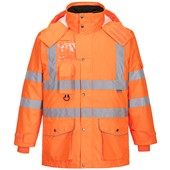 Portwest High Visibility 7-in-1 Breathable Jacket GO/RT Orange