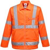 Portwest High Visibility Poly-Cotton Jacket GO/RT Orange