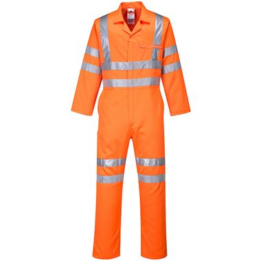 Portwest High Visibility Poly-Cotton Coverall GO/RT Orange
