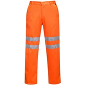 Portwest RT45 Orange Hi Vis Poly-Cotton Trousers